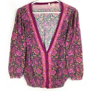 Moth Paisley Floral Bordered Cardigan. Rare.🌸